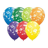 Aliens and Spaceships Latex Balloons (6)