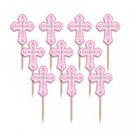 Cross Food Picks Pink (36)