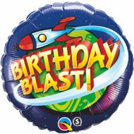 Birthday Blast Round Foil Balloon (18in)