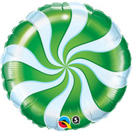 Candy Swirl Green Foil Balloon (18in)