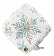 Snowflake Sparkle White Foil Balloon (18in)