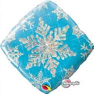 Snowflake Sparkles Blue Foil Balloon (18in)
