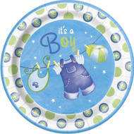 Blue Clothesline Dinner Plates (8)