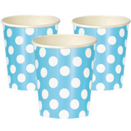 Powder Blue Big Dots Cups (6)