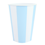 Powder Blue Striped Cups (6)