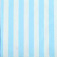 Powder Blue Striped Beverage Napkins (16)