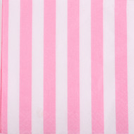 Powder Pink Striped Beverage Napkins (16)