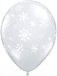 Snowflakes Diamond Clear Latex Balloons (5)