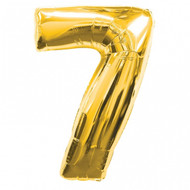 Large Number 7 Foil Balloon Gold (34in)