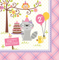 Happi Woodland Girl 2nd Birthday Napkins (16)