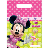 Minnie Mouse Pink Polka Dot Loot Bags (6)