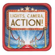 "Hollywood Lights 9"" Square Plates (8)"