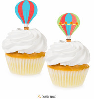 Hot Air Balloon Cupcake Toppers (12)