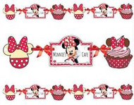 Minnie Mouse cafe Cut Out Paper Banner (1m)