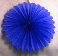 Mini Dark Blue Hanging Fan Decorations (3)