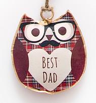 Hamish Mini Best Dad Hanging Owl
