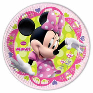 Minnie Mouse Polka Dot Pink Plates (8)