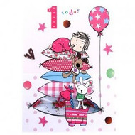 1 Today Girl Birthday Card