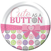Cute as a Button Girl 9 inch Lunch Plates (8)