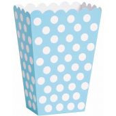 Powder blue polka dot treat boxes (8)