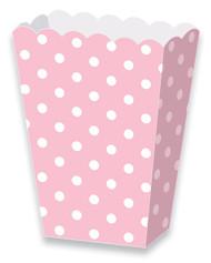 Polka dot powder pink treat boxes (8)