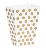 Gold polka dot treat boxes (8)