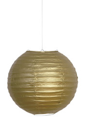 Gold paper lantern decoration
