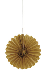 Gold mini fan decorations (3)