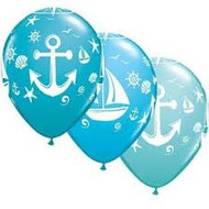 Nautical latex balloons (5)