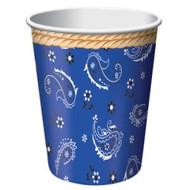 Blue Bandana Cowboy Cups (8)