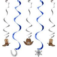 Blue Bandana Cowboy Dizzy Danglers (5)