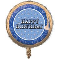 Blue Bandana Cowboy Foil Balloon