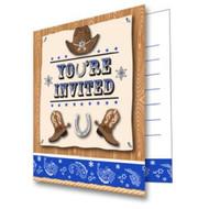 Blue Bandana Cowboy Invitations (8)