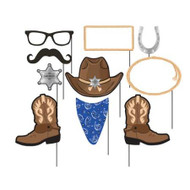 Blue Bandana Cowboy Photo Booth Props (10)