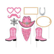Pink Bandana Cowgirl Photo Booth Props (10)