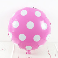 Hot Pink Big Dots Foil Balloon (18in)