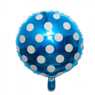 Navy Blue Big Dots Foil Balloon (18in)