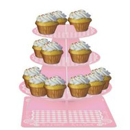 Baby shower Cupcake Stand Pink Gingham