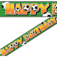 Football happy birthday foil banner