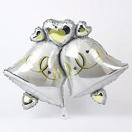 Wedding bells supershape foil balloon