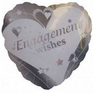 Engagement wishes foil balloon
