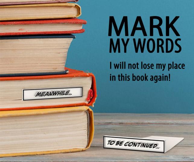 mark My Words Bookmark