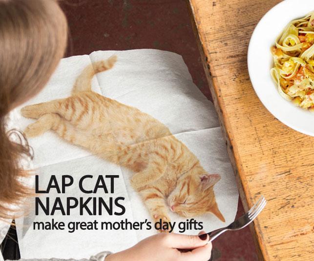 Lap Cat napkins