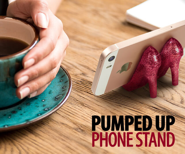 Pumped Up High Heel Phone Stand