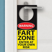 FART ZONE DOOR HANGER
