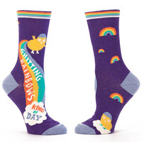 SHITTING RAINBOWS KIND OF DAY CREW SOCKS