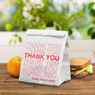 OUT TO LUNCH REUSABLE LUNCH BAG, THANK YOU