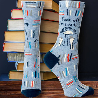BlueQ Fuck Off I'm Reading Socks