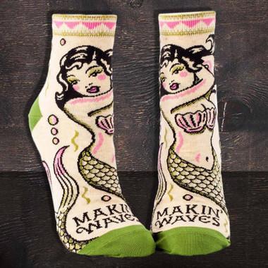 Makin' Waves Mermaid Ankle Socks