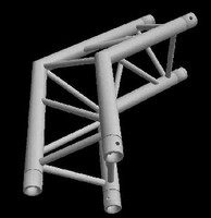 """Global Truss F33 12"""" 2 Way 120 Degree Triangle Corner / Apex Out"""